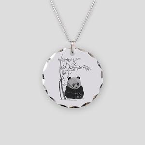 Little Panda Necklace Circle Charm