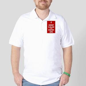 Keep Calm and Swim On Golf Shirt