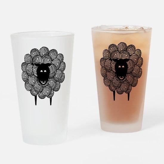 Yarny Sheep for Lights Drinking Glass