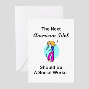 Social Worker Idol Greeting Cards (Pk of 10)