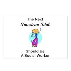 Social Worker Idol Postcards (Package of 8)