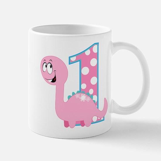 Dinosaur First Birthday Mug