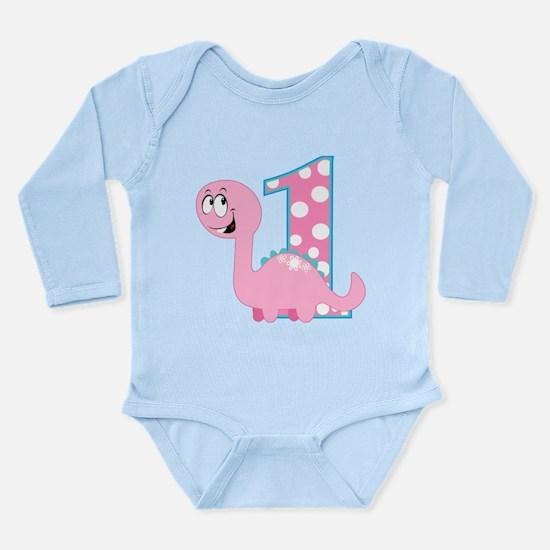 Dinosaur First Birthday Long Sleeve Infant Bodysui