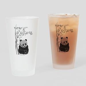 Little Panda Drinking Glass