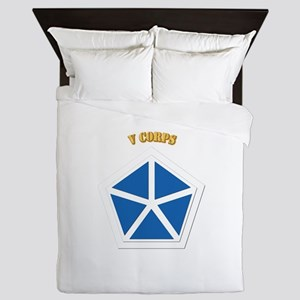 SSI - V Corps With Text Queen Duvet