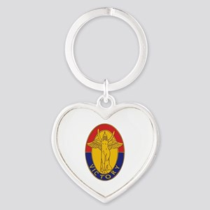 DUI - 1st Infantry Division Heart Keychain