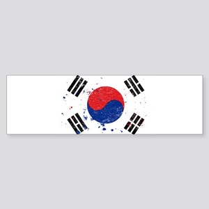 South Korean Flag (Punk) Bumper Sticker
