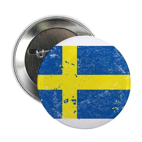 "Swedish Flag (Punk) 2.25"" Button (10 pack)"