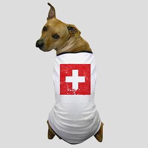 Swiss Flag (Punk) Dog T-Shirt