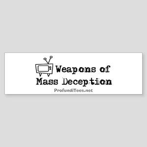 TV Mass Deception Bumper Sticker