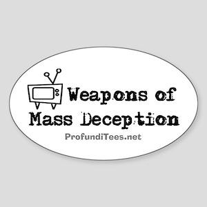 TV Mass Deception Oval Sticker