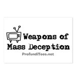 TV Mass Deception Postcards (Package of 8)