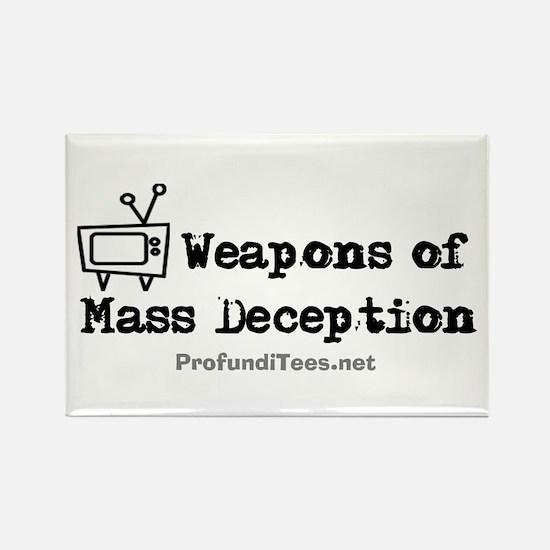 TV Mass Deception Rectangle Magnet