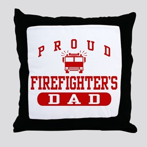 Proud Firefighter's Dad Throw Pillow