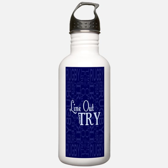 Line Out and Try Rugby Water Bottle