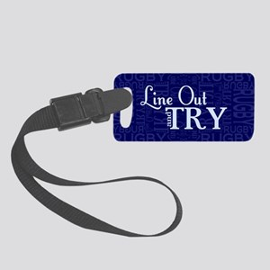 Line Out and Try Rugby Small Luggage Tag