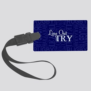 Line Out and Try Rugby Large Luggage Tag