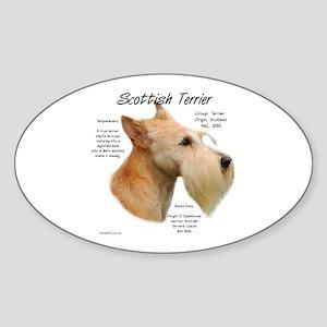 Scottie (Wheaten) Sticker (Oval)