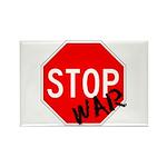 Stop War Rectangle Magnet (10 pack)