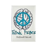 Think Peace Rectangle Magnet