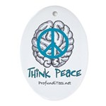 Think Peace Oval Ornament