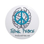 Think Peace Ornament (Round)