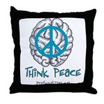 Think Peace Throw Pillow