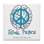 Think Peace Tile Coaster