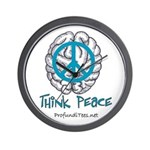 Think Peace Wall Clock