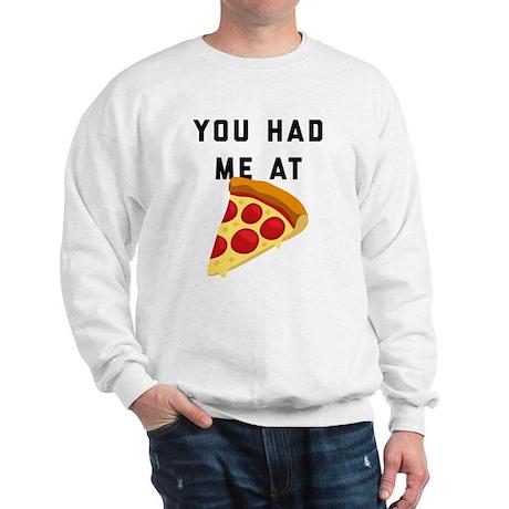 You Had Me At Pizza Emoji Sweatshirt
