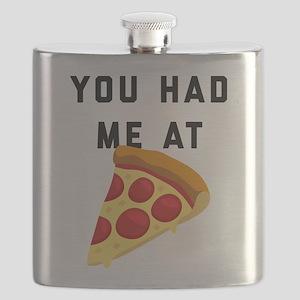 You Had Me At Pizza Emoji Flask