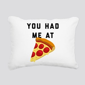 You Had Me At Pizza Emoj Rectangular Canvas Pillow