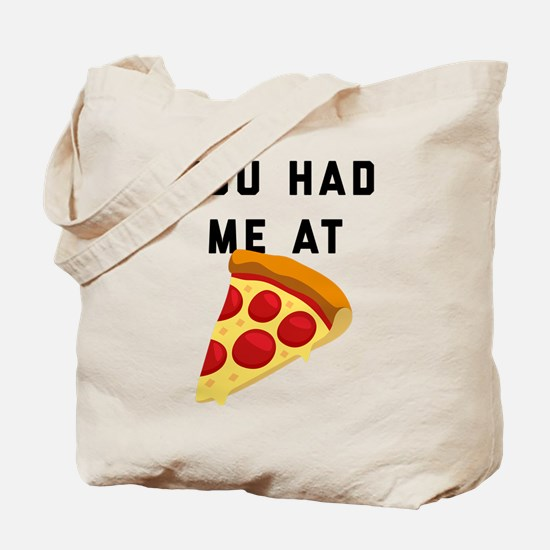 You Had Me At Pizza Emoji Tote Bag