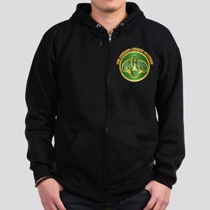 DUI - 3rd Cavalry Rgt with Text Zip Hoodie (dark)