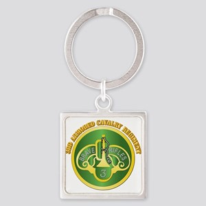 DUI - 3rd Cavalry Rgt with Text Square Keychain