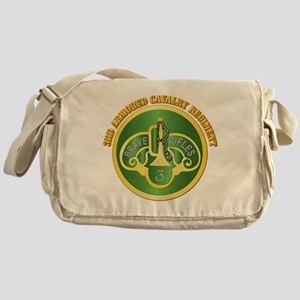 DUI - 3rd Cavalry Rgt with Text Messenger Bag