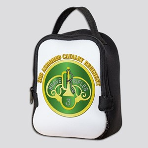 DUI - 3rd Cavalry Rgt with Text Neoprene Lunch Bag