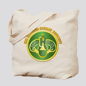 DUI - 3rd Cavalry Rgt with Text Tote Bag