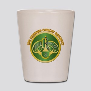 DUI - 3rd Cavalry Rgt with Text Shot Glass
