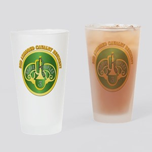 DUI - 3rd Cavalry Rgt with Text Drinking Glass