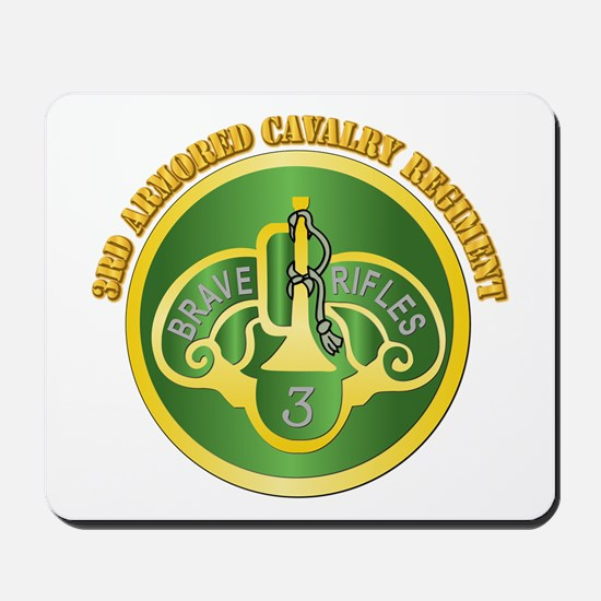DUI - 3rd Cavalry Rgt with Text Mousepad