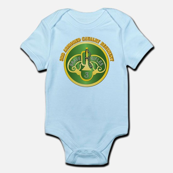 DUI - 3rd Cavalry Rgt with Text Infant Bodysuit