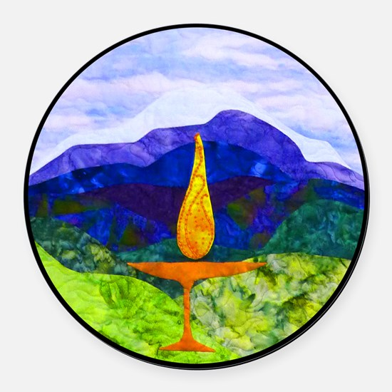 Mountain Chalice Round Car Magnet