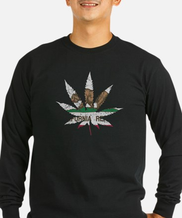 California Republic Pot Leaf Long Sleeve T-Shirt