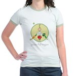 peas-ful vegan Jr. Ringer T-Shirt