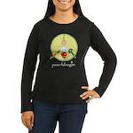 peas-ful vegan Women's Long Sleeve Dark T-Shirt