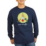 peas-ful vegan Long Sleeve Dark T-Shirt