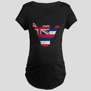 Hawaii Flag Hang Loose Maternity T-Shirt