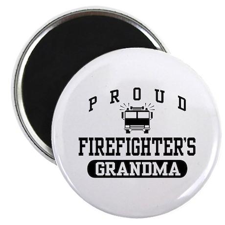 Proud Firefighter's Grandma Magnet