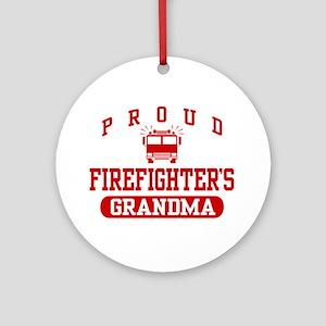 Proud Firefighter's Grandma Ornament (Round)